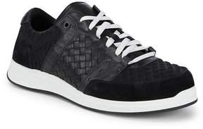 Bottega Veneta Men's Embossed Low Top Sneakers