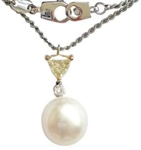 Damiani 18K White & Yellow Gold Diamond Pearl Necklace