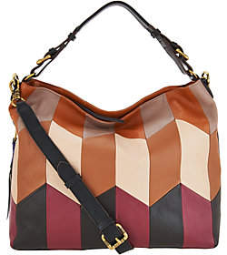 Oryany As Is Pebble Leather Convertible Hobo Handbag- Arlene