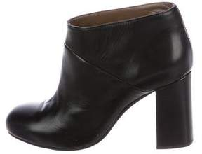 Marni Leather Round-Toe Booties
