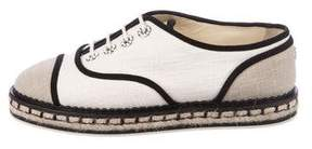Chanel Gripoix Lace-Up Espadrilles
