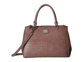 Anne Klein Weave Double Top Zip Satchel