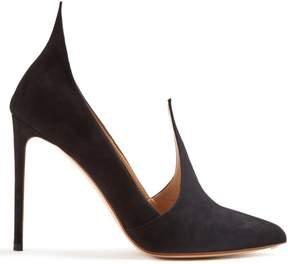 Francesco Russo Point-toe suede pumps