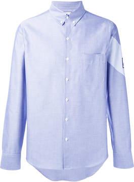 Moncler Gamme Bleu chambray stripe detail shirt