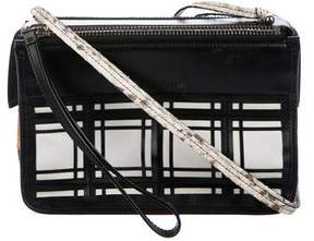 Proenza Schouler Snakeskin-Trimmed Leather Crossbody Bag