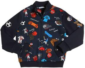 Dolce & Gabbana Sport Printed Cotton Sweatshirt