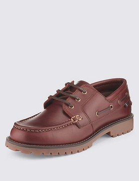 Marks and Spencer Leather Boat Shoes with FreshfeetTM