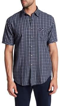 James Campbell Annie Plaid Short Sleeve Regular Fit Shirt