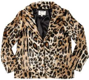 Zadig & Voltaire Leopard Printed Faux Fur Jacket