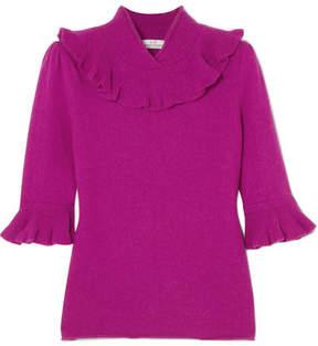 Co Ruffled Alpaca-blend Sweater - Magenta