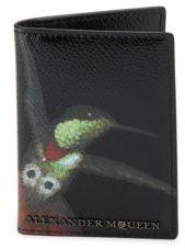 Alexander McQueen Kingfisher Graphic Leather Pocket Organizer