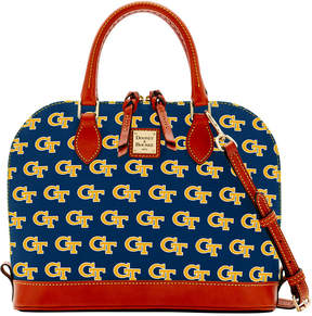 Dooney & Bourke Georgia Tech Yellow Jackets Zip Zip Satchel - NAVY - STYLE