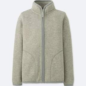 Uniqlo Boy's Knitted Fleece Full-zip Long-sleeve Jacket