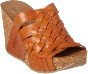 Chocolat Blu Atlantic Leather Wedge Sandal