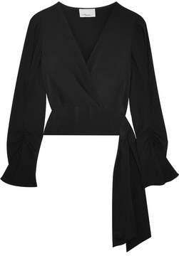 3.1 Phillip Lim Wrap-effect Silk Crepe De Chine Blouse - Black