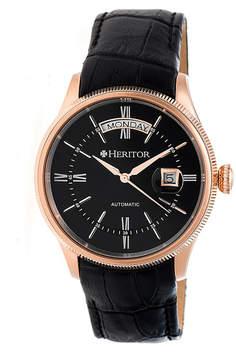 Heritor Vernon Mens Black Strap Watch-Herhr5808