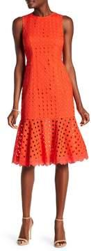 Donna Morgan Sleeveless Eyelet Midi Dress