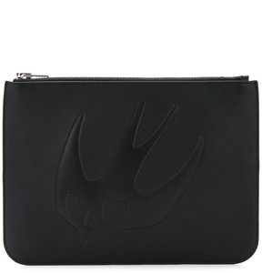McQ Alexander McQueen embossed swallow clutch