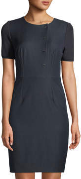 T Tahari Asymmetric Hook-Front Dress