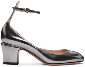 Valentino Grey Garavani Tan-go Mary Jane Heels