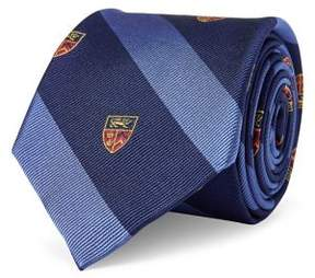 Lauren Ralph Lauren Striped Crest Silk Tie