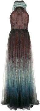 Elie Saab printed scarf halter gown