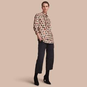 Burberry Pallas Heads Print Cotton Shirt