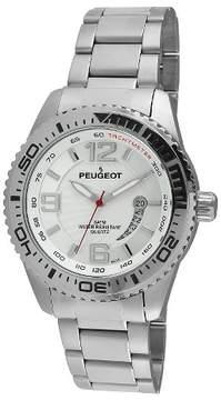 Peugeot Watches Men's Stainless Steel Sport Bezel Watch - Silver