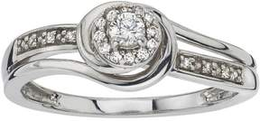 Ice Diamond Little Bridal Ring in Sterling Silver