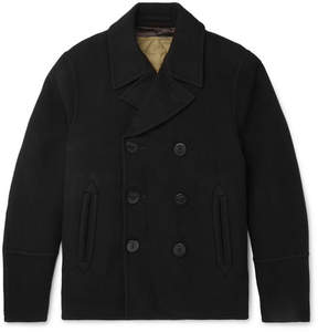 Joseph Wool And Cashmere-Blend Peacoat With Detachable Quilted Cotton Gilet