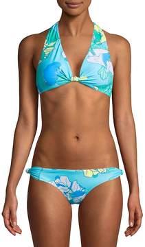 6 Shore Road Women's Oceanfront Floral Bikini Top