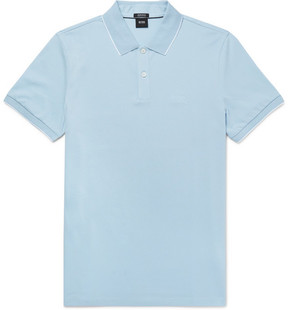 HUGO BOSS Parlay Slim-Fit Contrast-Tipped Pima Cotton-Piqué Polo Shirt