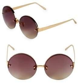 Linda Farrow 58MM Round Sunglasses