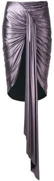 Alexandre Vauthier metallic draped skirt