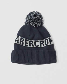Abercrombie & Fitch Logo Pom Beanie