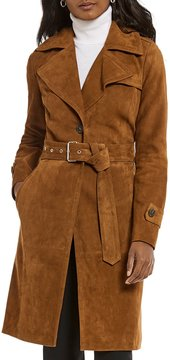 Antonio Melani Luxury Collection Reign Genuine Suede Trench