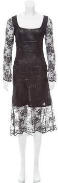 Blumarine Mesh Midi Dress