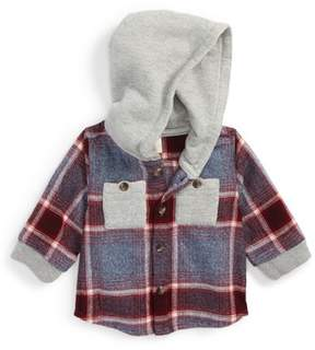 Tucker + Tate Infant Boy's Hooded Flannel Shirt