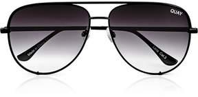 Quay x Desi High Key* Collaboration Aviator Sunglasses- Black