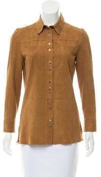 Pinko Suede Snap-Up Top