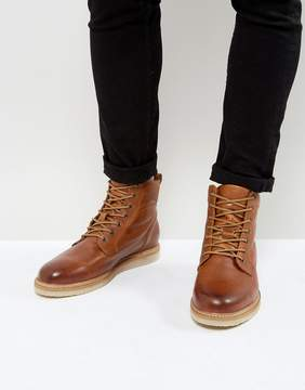 Zign Shoes Leather Smooth Lace Up Boots