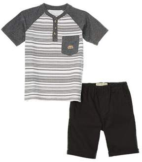 Lucky Brand Boys' 2pc Henley And Short Set.