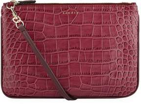 Sandro Croc Embossed Cross Body Bag