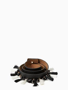 7/8 Saffiano Tassel And Bead Belt