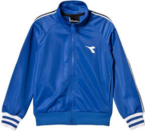 Diadora Blue Tech Fabric Branded Zip Through Track Jacket