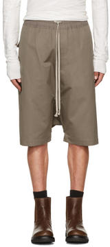 Rick Owens Grey Ricks Pods Shorts