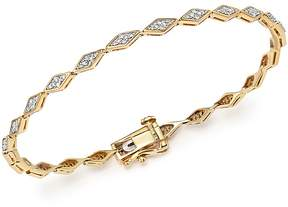 Adina 14K Yellow Gold Pavé Diamond Tennis Bracelet