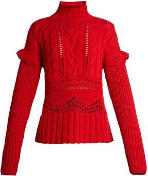 Altuzarra Prelude high-neck cable-knit wool sweater