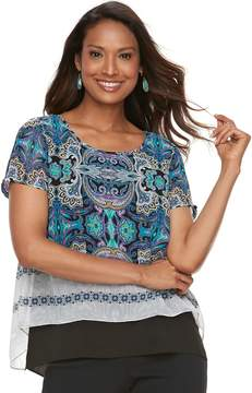 Dana Buchman Women's Double-Layer Tee