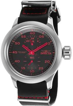 Invicta Watches Mens Russian Aviator GMT Genuine Leather Band Watch
